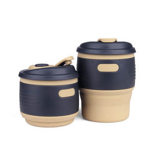 Coffee-Cup Drinking-Cups Water-Container Folding Silicone Outdoor Large-Size Insulation