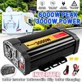 Пик 6000W DC 12V к AC 110V Автомобильное зарядное устройство преобразователь адаптер DC 12 к AC 110V 2 USB модифицированный синусоидальный волновой трансф...
