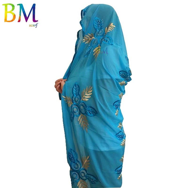 High Quality Women Scarf Chiffon Embroidery Scarf Big Size Chiffon Scarf For Shawls BX12