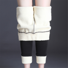 OUMENGK, новая мода, высокая талия, осень, зима, для женщин, толстые, теплые, эластичные штаны, качество, S-5XL, брюки, облегающие, тип, брюки-карандаш