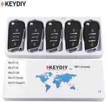 5 uds, llave remota Universal multifuncional para KD900 KD900 + URG200 NB Series , KEYDIY NB11 (todas las funciones Chips en una tecla)