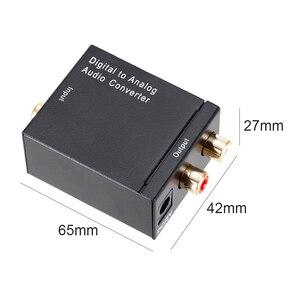 Image 5 - محول صوت رقمي إلى تناظري DAC TOSLINK ، SPDIF بصري إلى L/R RCA ، مقبس صوت 3.5 مللي متر لـ HD DVD Amp HDTV Home