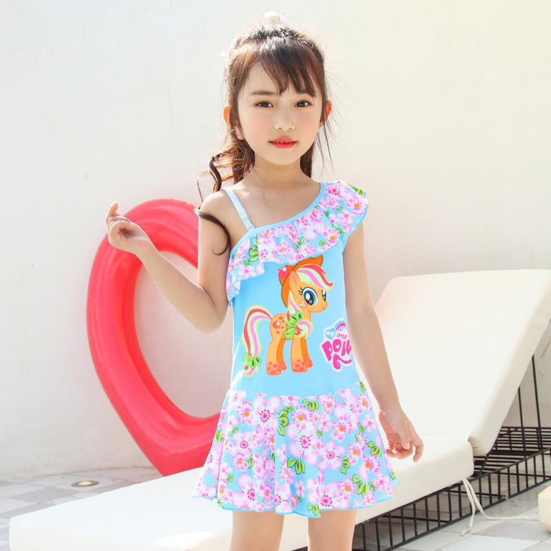 KID'S Swimwear GIRL'S GIRL'S Swimsuit Cute Large Children South Korea Students Dress-Tour Bathing Suit