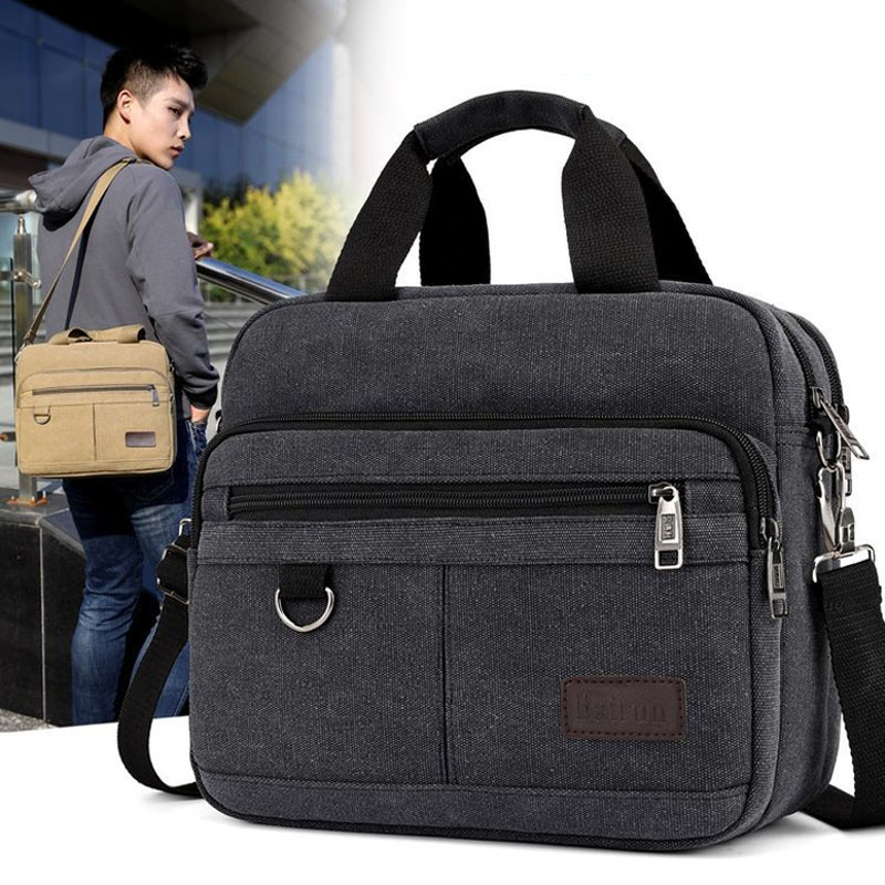 Image 3 - Mens handbag casual multi function shoulder bag briefcase Messenger bag   Casual ToteTop-Handle Bags   -