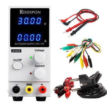 New DC power supply Adjustable 30V 10A 4 Digit Display LW-K3010D For Laptop Repair Switching Regulator Laboratory Power Supplies - DISCOUNT ITEM  53% OFF All Category
