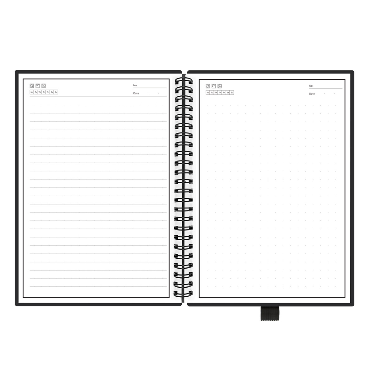 NEW Smart Reusable Erasable <font><b>Notebook</b></font> Paper Microwave Wave Cloud Erase Notepad Note Pad Lined With Pen image