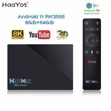 2021 RK3566 Smart TV BOX Android 11 2.4G&5G Wifi 4GB 8GB 32GB 64GB 8K USB3.0 1000M Google Voice Youtube Gyros Remote IPTV Box