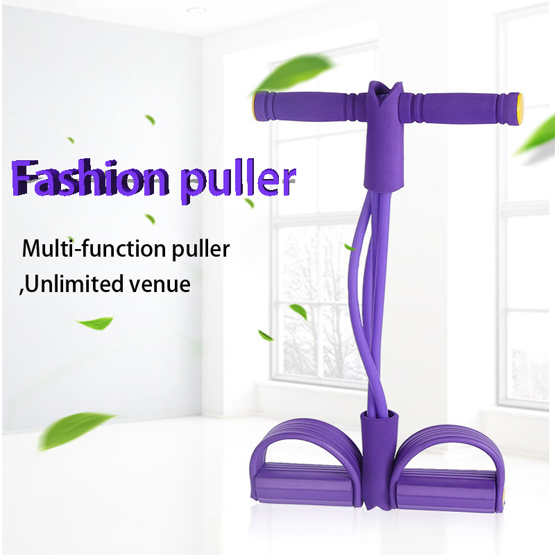 Fitness Resistance Bands Exercise Equipment Elastic Sit Up Pull Rope Gym Workout Bands Sports Training 4 Tube Pedal Ankle Puller 3