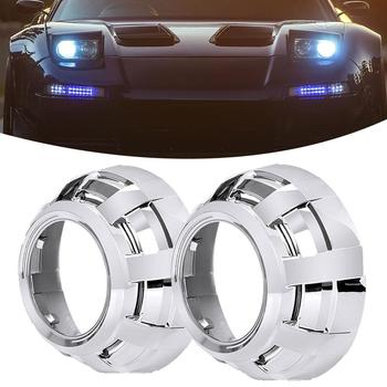 1 Pair 3 Inch Projector Lens Lamp Cover for Q5 Hella Bi-xenon HID Car Headlight image