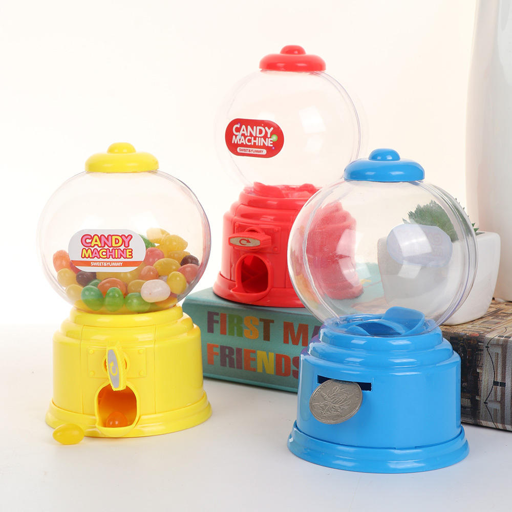 Mini Candy Machine Bubble Gumball Dispenser Coin Bank Kids Play House Toys Cute Sweets Save Money Toys Birthday New Year Gift