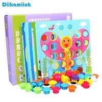 新スタイルキノコ爪3Dパズルのおもちゃジグソーパズルボード幾何学的形状ボタンパズル早期教育玩具子供のため