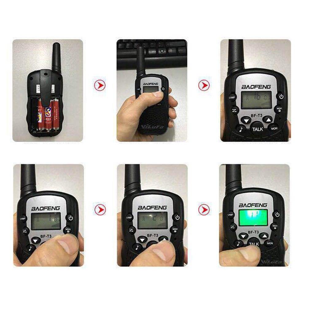 2 Stuks Baofeng BF-T3 Pmr446 Walkie Talkie Beste Gift Voor Kinderen Radio Handheld T3 Mini Draadloze Twee Manier Radio Kids speelgoed Woki Toki 4