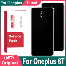 Original Back Housing Replacement For Oneplus 6T Back Cover Battery Glass With Camera Lens For Oneplus 6T Rear Cover With Logo