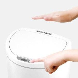 Image 5 - Youpin NINESTARS cubo de basura inteligente Sensor de movimiento Auto sellado LED inducción cubierta basura 10L Mi casa Ashcan Bins