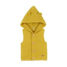 Осенняя детская однотонная худи-жилетка с принтом для маленьких мальчиков и девочек, свитер, топы без рукавов, пальто, верхняя одежда