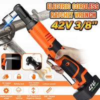 doersupp 42V Electric Wrench 3/8'' Cordless Ratchet Wrench With LED Light 110 220V Rechargeable 8000mAh 90Nm Torque Power Tool