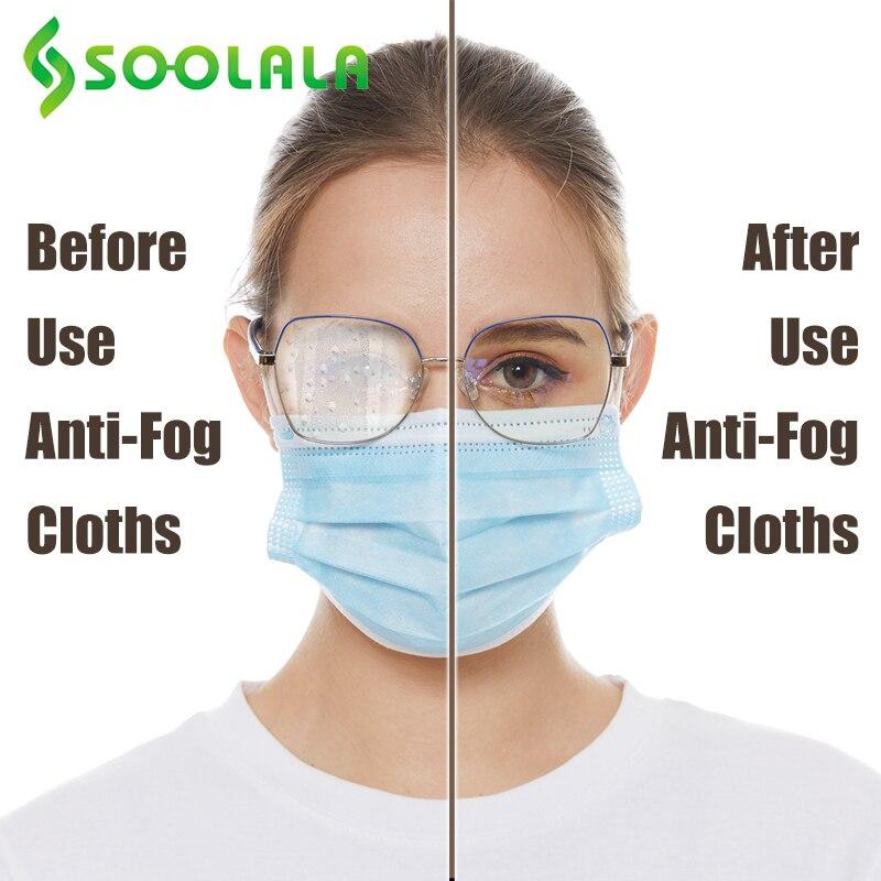 SOOLALA 6pcs 15x14.5cm Eyeglasses Anti-Fog Cloth Microfiber Fabric Glasses Cleaner for Spectacles Lenses Camera Phone Screen 3