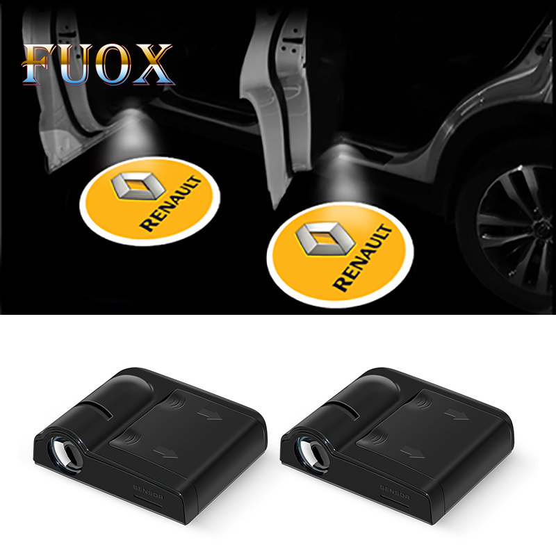 2pcs Wireless Led Car Door Welcome Laser Projector Logo Ghost Shadow Lights for Renault Megane 2 3 Duster Logan Clio Accessories