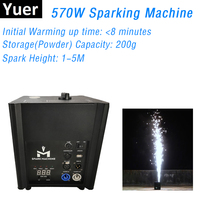 570W Firework Machine AC220V DJ Disco Cold Spark Fountain Fireworks Machine for Wedding Stage Effect DMX and Wireless Controller