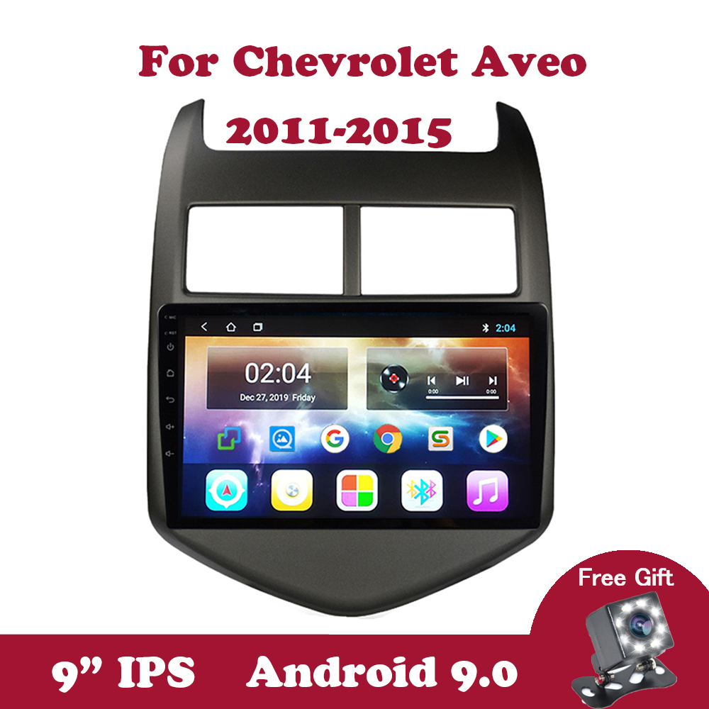 Android 9.0 IPS DVD Multimedia Player For Chevrolet <font><b>Aveo</b></font> 2 2011 2012 <font><b>2013</b></font> 2014 2015 Car Radio 2G + 32G Navigation GPS Canbus OBD image