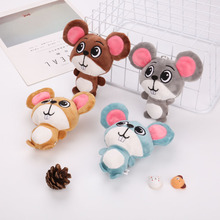 لطيف لينة ماوس ألعاب من نسيج مخملي Kawaii الفئران محشوة لعب للأطفال أطفال 2020 هدايا السنة الجديدة المنزل زينة عيد الميلاد المفاتيح حلقة رئيسية
