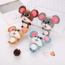 Mignon doux souris peluche jouet Kawaii Rat jouets en peluche pour enfants enfants 2020 nouvel an cadeaux maison noël décor porte clés