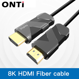 Optical Fiber HDMI 2.1 Cable Ultra-HD (UHD) 8K Cable 120Hz 48Gbs with Audio Video HDMI Cord HDR 4:4:4 Lossless amplifier(China)