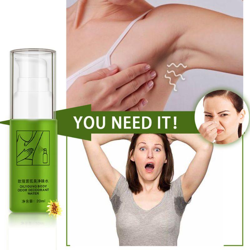 20ml Women Men Antiperspirant Deodorant Summer Underarms Armpit Foot Body Odor Remove Refreshing Water Spray Natural Deodorizer
