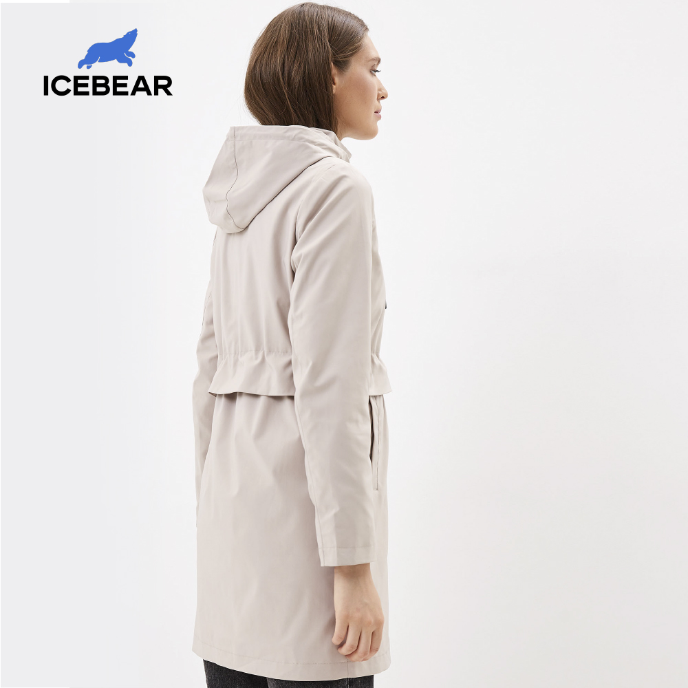 Icebear Trench-Coat Clothing Windbreaker Hood Spring Fashionable Women's with Gwf20017i