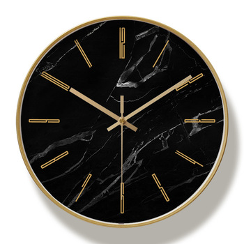 Metal Silent Wall Clock Black Golden Simple Modern Design Art Wall Watches Zegar Scienny Nordic Living Room Decoration MM50WC