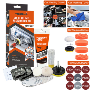 Image 1 - Car Headlight Polisher Restorer Polish For Headlights Restoration Kit Washer Chemical Polishing Kit Wax For Auto Headlamps