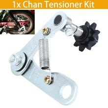 Silver Dirt Bike Chain Tensioner Kit Spring Loaded Universal For Motorbike Honda