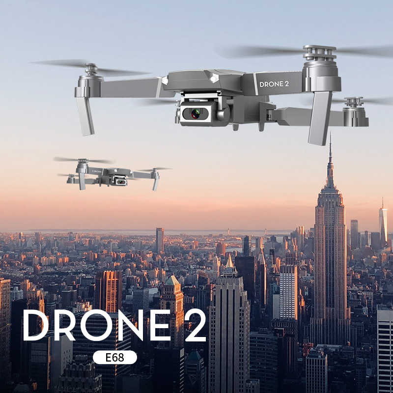 XKJ 2020 ใหม่ E68 WIFI FPV MINI Drone กว้าง HD 4K 1080P กล้องความสูงโหมด Hold RC Quadcopter Dron ของขวัญ