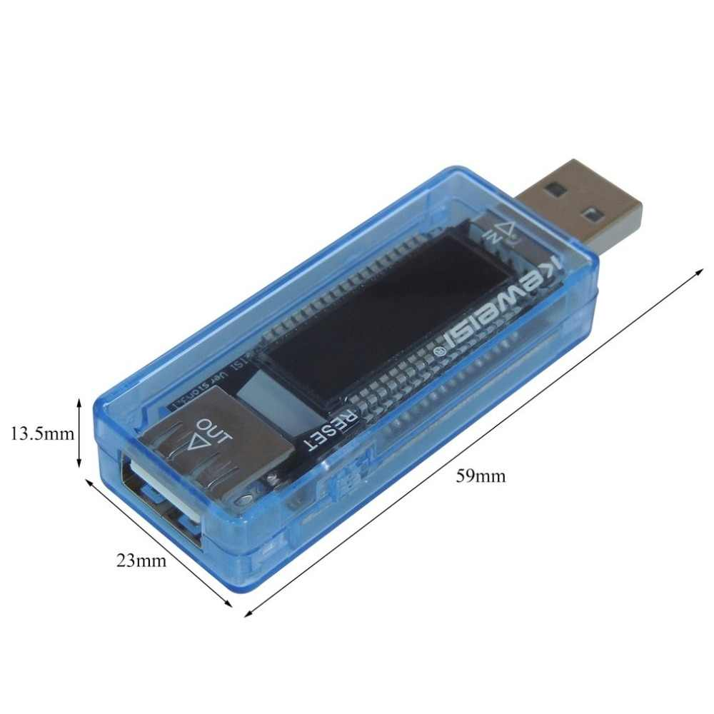Usb Stroom Voltage Capaciteit Tester Volt Stroom Spanning Arts Lader Capaciteit Tester Meter Mobiele Power Detector Batterij Test
