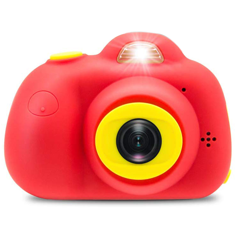 Kids Camera 8MP Rechargeable Digital Front And Rear Selfie Camera With 2 Inches Screen Child Camcorder Toys Gift ,with 16GB Micr