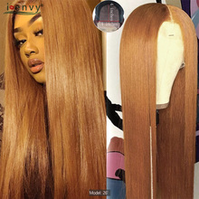 Blonde Lace Closure Human Hair Wigs For Black Women 4x4 #30 Ombre Human Hair Wigs Straight Peruvian Honey Blonde Wigs Non Remy