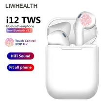 I12 TWS Touch Bluetooth Wireless Earphones Surround Headphone Earbuds For iPhone Samsung xiaomi fone de ouvido PK I7S I9 I200 original meizu hd50 pk xiaomi headband headphone