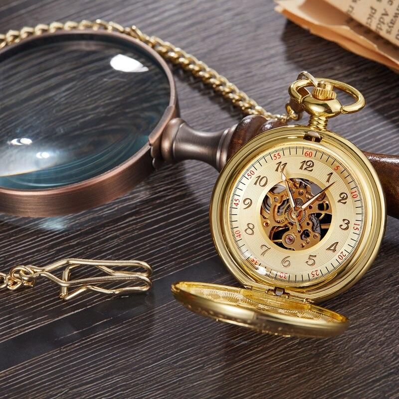 Relógio de Bolso Mecânico Relógio Mão Sinuosa