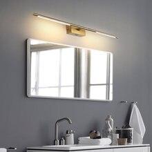 Современный светодиодное освещение зеркала в ванной Золотой/черный
