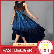 Dress Elegant Blue Print