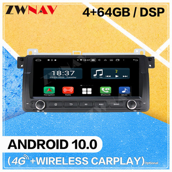Carplay Android 10.0 screen Car Multimedia DVD Player for BMW E46 WIF GPS Navigation car Auto Video Radio Audio Stereo Head unit image