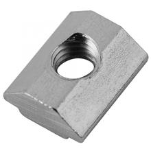 Stainless Steel Square Nuts 50/100pc Hammer Head T Sliding Nut Block M4-M6 fr European Aluminum  Slot Long Service Life peng fa 35 steel t nut sleeve steel t type sliding nut milling working table fixing t bolts t slot nuts set t slots nut for t tr