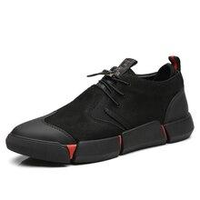 YEINSHAARS Shoes Men Black 2020 Spring Autumn Men