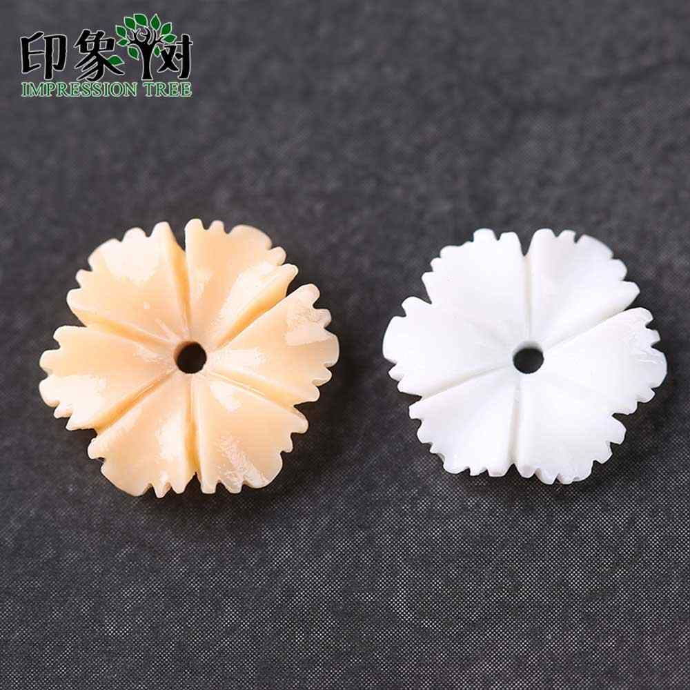 1pcs Resin Flower Bead Caps 12x12mm Six Petal Flatback 3D Flower Charms Fit For Necklace Bracelet Handmade Jewelry Making 26002