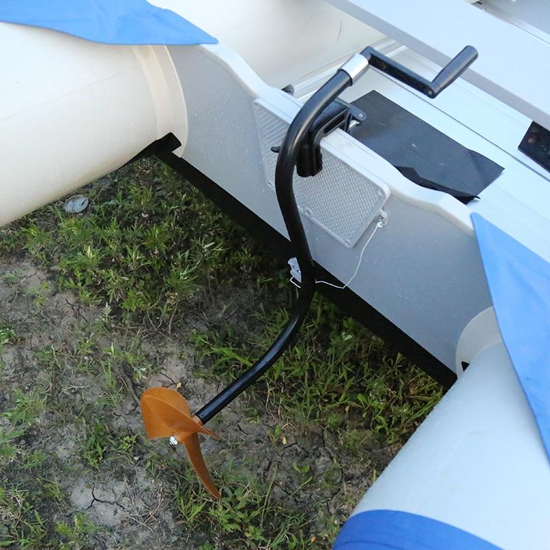 Hélice à main bateau en caoutchouc marin pagaie moteur à main hélice manuelle propulsée à la main hors-bord