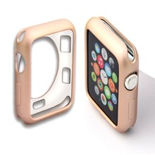 Protective Shell Silicone for Apple watch 2/3 Protective Case Cover for Apple Watch band 42mm 38mm series 3/2/1 Color drop ship
