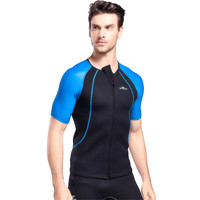 Lycra Fabric Wetsuits Men's Short sleeved Outdoor Surf Clothing High elastic Wetsuit Diving Suit for Men Sunscreen Surf Clothing