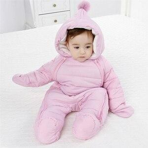 Image 1 - 2020 Spring Baby Girls Romper Warm Winter Kids Boy Jumpsuit Clothes Autumn Fleece Infant Onesies Unisex Newborn Overalls