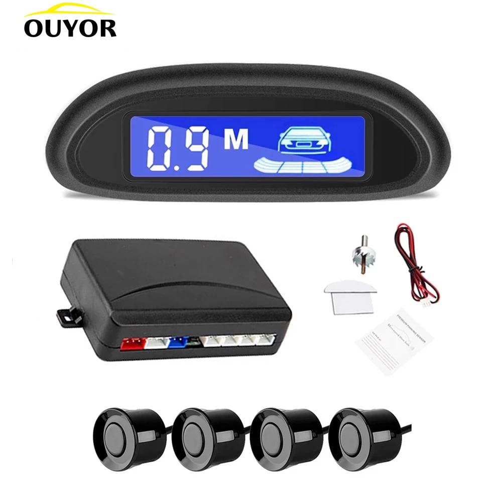 Парктроник со светодиодным индикатором, с 4 датчиками парковки, дисплей с подсветкой парктроник парктроники для авто парктроник 4 датчика п...