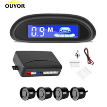 Car Auto Parktronic Estacionamento LED Sensores de Estacionamento Backup Radar Com 4 Carro Monitor de Estacionamento Radar Detector Sistema de Iluminação Do Display